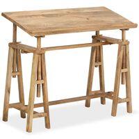 vidaXL Drafting Table Solid Mango Wood 116x50x76 cm