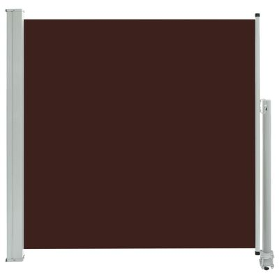 vidaXL Patio Retractable Side Awning 160x300 cm Brown