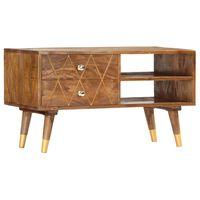 vidaXL TV Cabinet 85x35x47 cm Solid Mango Wood