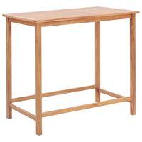 vidaXL Garden Bar Table 120x65x110 cm Solid Teak Wood