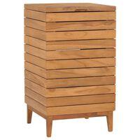 vidaXL Laundry Basket 40x40x70 cm Solid Teak Wood