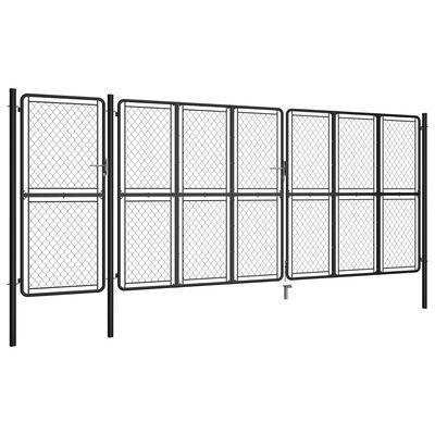 vidaXL Garden Gate Steel 150x495 cm Anthracite