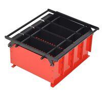 vidaXL Paper Log Briquette Maker Steel 38x31x18 cm Black and Red