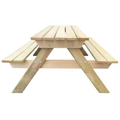 vidaXL Picnic Table 150x135x71.5 cm Wood
