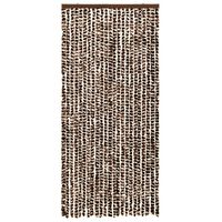 vidaXL Insect Curtain Brown and White 90x220 cm Chenille