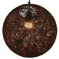 vidaXL Hanging Lamp Brown Sphere 35 cm E27