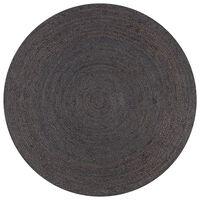 vidaXL Handmade Rug Jute Round 120 cm Dark Grey
