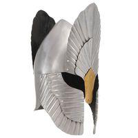 vidaXL Fantasy Medieval Knight Helmet Replica LARP Silver Steel