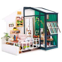 Robotime DIY Miniature Kit Balcony Daydreaming with LED Light