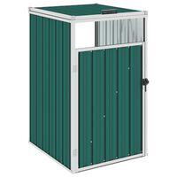 vidaXL Garbage Bin Shed Green 72x81x121 cm Steel