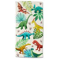Good Morning Beach Towel DINOS 75x150 cm Multicolour