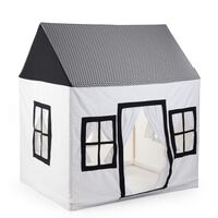 CHILDHOME Playhouse 125x95x145cm Canvas White and Black