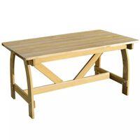 vidaXL Garden Table 150x74x75 cm Impregnated Pinewood