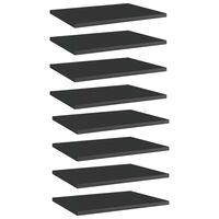 vidaXL Bookshelf Boards 8 pcs High Gloss Black 40x30x1.5 cm Chipboard
