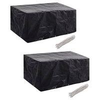 vidaXL Garden Furniture Covers 2pcs 6 Person Poly Rattan 240x140cm