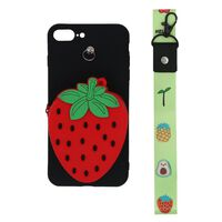 3D mobile phone case with coin pocket for iPhone 7 plus / 8 plus - str