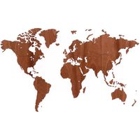 MiMi Innovations Wooden World Map Wall Decoration Exclusive Sapele 130x78 cm