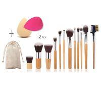 Sraith De 12 Scuaba Makeup, 2 Spúinsí
