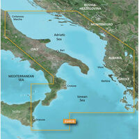 GARMIN VEU453S ADRIATIC SEA SOUTH COAST BLUECHART G3
