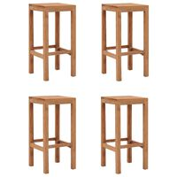 vidaXL Bar Stools 4 pcs Solid Teak Wood
