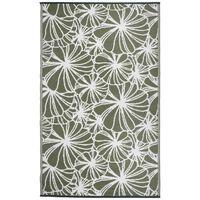 Esschert Design Outdoor Rug 241x152 cm Floral Pattern OC21