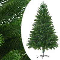 vidaXL Faux Christmas Tree Lifelike Needles 180 cm Green