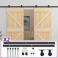 vidaXL Sliding Door with Hardware Set 90x210 cm Solid Pine Wood