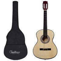vidaXL 8 Piece Classical Acoustic Guitar Kids and Beginner Set 3/4 36