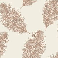 DUTCH WALLCOVERINGS Wallpaper Fawning Feather Cream