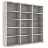 vidaXL CD Cabinet Concrete Grey 102x23x89.5 cm Chipboard
