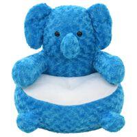 vidaXL Elephant Cuddly Toy Plush Blue