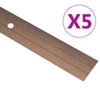 vidaXL Floor Profiles 5 pcs Aluminium 134 cm Brown