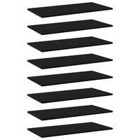 vidaXL Bookshelf Boards 8 pcs Black 80x40x1.5 cm Chipboard