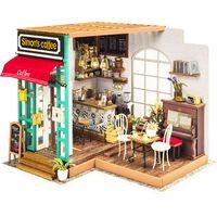 Robotime DIY Miniature Kit Simon's Coffee with LED Light