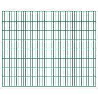 vidaXL 2D Garden Fence Panels 2.008x1.63 m 22 m (Total Length) Green