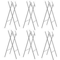 vidaXL Folding Table Legs 6 pcs Silver 45x55x112 cm Galvanised Steel