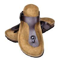 vidaXL Women's Bio Cork Sandal with Flip Flop Design Brown Size 38