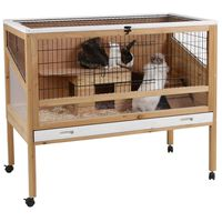 Kerbl Small Animal Cage Indoor Deluxe 115x60x92.5 cm Wood 82725