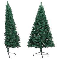 vidaXL Artificial Half Christmas Tree with Stand Green 210 cm PVC