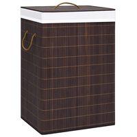 vidaXL Bamboo Laundry Basket Brown 72 L