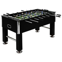 vidaXL Football Table Steel 60 kg 140x74.5x87.5 cm Black