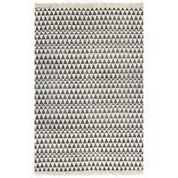 vidaXL Kilim Rug Cotton 160x230 cm with Pattern Black/White