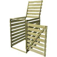 vidaXL Single Wheelie Bin Shed 240 L Impregnated Wood