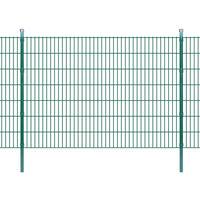 vidaXL 2D Garden Fence Panel & Posts 2008x1430 mm 2 m Green