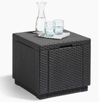 Allibert Cube Storage Pouffe Graphite 213816