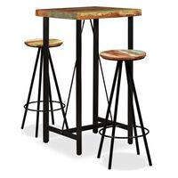 vidaXL Bar Set 5 Pieces Solid Reclaimed Wood
