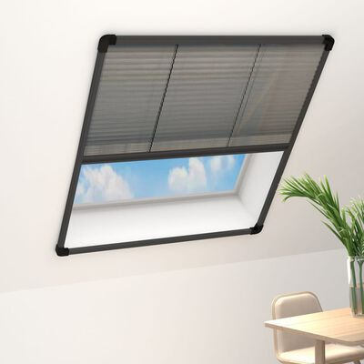 vidaXL Plisse Insect Screen for Windows Aluminium Anthracite 120x160cm