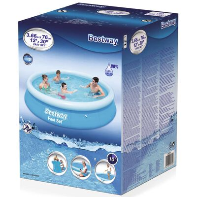 Bestway Fast Set Inflatable Swimming Pool 366x76 cm 57273