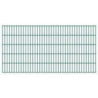 vidaXL 2D Garden Fence Panels 2.008x1.03 m 8 m (Total Length) Green