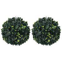 vidaXL Artificial Boxwood Balls 2 pcs 22 cm